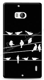 Nokia Lumia 930 Birds Black Kılıf