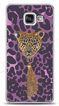 Samsung Galaxy A3 2016 Purple Leopard Taşlı Kılıf