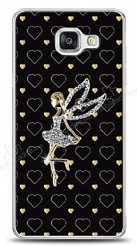 Samsung Galaxy A7 2016 Lovely Girl Taşlı Kılıf