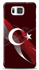 Samsung Galaxy Alpha Bayrak Çizgiler Kılıf