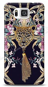 Samsung Galaxy Alpha Glory Leopard Taşlı Kılıf