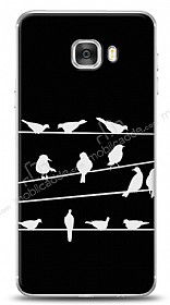 Samsung Galaxy C7 Birds Black Kılıf