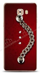 Samsung Galaxy C9 Pro Ring Shine Taşlı Metal Askılı Kılıf