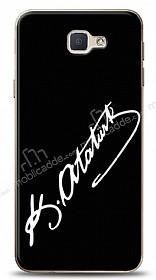 Samsung Galaxy J5 Prime Atatürk İmza Siyah Kılıf