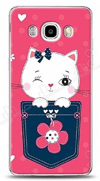Samsung Galaxy J7 2016 Pink Cat Kılıf