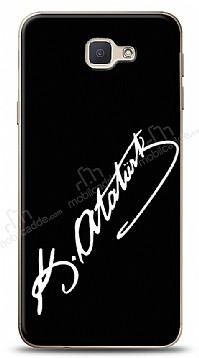 Samsung Galaxy J7 Prime Atatürk İmza Siyah Kılıf