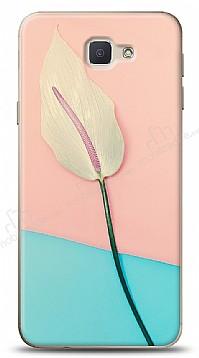 Samsung Galaxy J7 Prime Pink Blue Leaf Kılıf