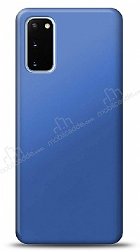 Samsung Galaxy S20 Lacivert Mat Silikon Kılıf