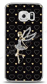 Samsung Galaxy S6 edge Lovely Girl Taşlı Kılıf