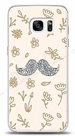 Samsung Galaxy S7 Bling Mustache Taşlı Kılıf