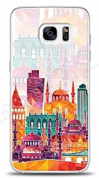 Samsung Galaxy S7 Edge Colorful İstanbul Kılıf