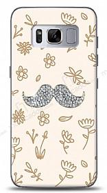Samsung Galaxy S8 Bling Mustache Taşlı Kılıf