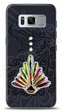 Samsung Galaxy S8 Peacock Shine Taşlı Kılıf