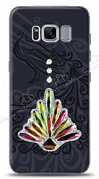 Samsung Galaxy S8 Plus Peacock Shine Taşlı Kılıf