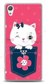 Sony Xperia XA Pink Cat Kılıf