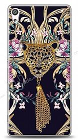 Sony Xperia XA Ultra Glory Leopard Taşlı Kılıf