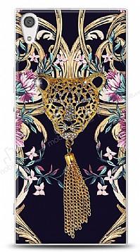 Sony Xperia XA1 Glory Leopard Taşlı Kılıf
