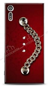 Sony Xperia XZ Ring Shine Taşlı Metal Askılı Kılıf