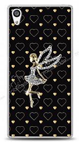 Sony Xperia Z5 Premium Lovely Girl Taşlı Kılıf