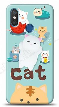 Xiaomi Mi 8 Üç Boyutlu Sevimli Kedi Kılıf