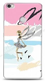 Xiaomi Mi Max Wing Girl Taşlı Kılıf