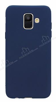 Samsung Galaxy A6 2018 Mat Lacivert Silikon Kılıf