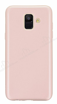 Samsung Galaxy A6 2018 Mat Rose Gold Silikon Kılıf
