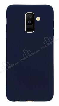 Samsung Galaxy A6 Plus 2018 Mat Lacivert Silikon Kılıf