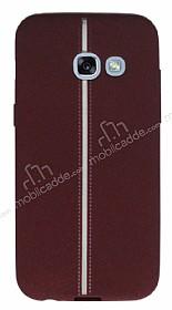 Samsung Galaxy A7 2017 Kadife Dokulu Bordo Silikon Kılıf