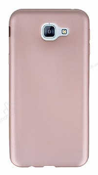 Samsung Galaxy A8 2016 Mat Rose Gold Silikon Kılıf