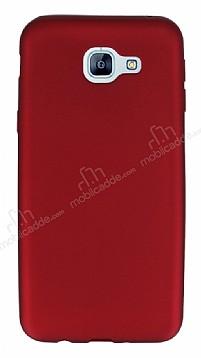 Samsung Galaxy A8 2016 Mat Kırmızı Silikon Kılıf
