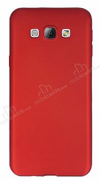 Samsung Galaxy A8 Mat Kırmızı Silikon Kılıf