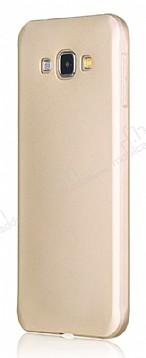 Samsung Galaxy A8 Mat Gold Silikon Kılıf