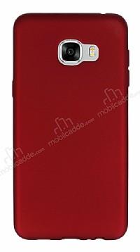 Samsung Galaxy C5 Mat Kırmızı Silikon Kılıf