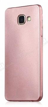 Samsung Galaxy C5 Pro Mat Rose Gold Silikon Kılıf