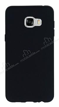 Samsung Galaxy C7 Mat Siyah Silikon Kılıf