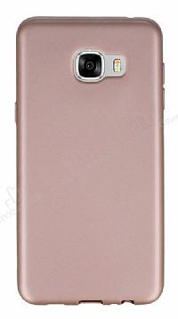 Samsung Galaxy C7 Mat Rose Gold Silikon Kılıf
