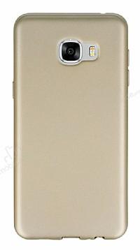 Samsung Galaxy C7 Mat Gold Silikon Kılıf