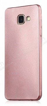 Samsung Galaxy C7 Pro Mat Rose Gold Silikon Kılıf
