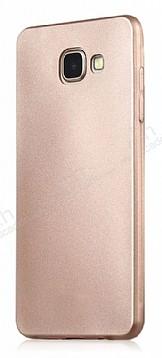 Samsung Galaxy C7 Pro Mat Gold Silikon Kılıf