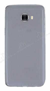 Samsung Galaxy C7 Pro Ultra İnce Şeffaf Siyah Silikon Kılıf