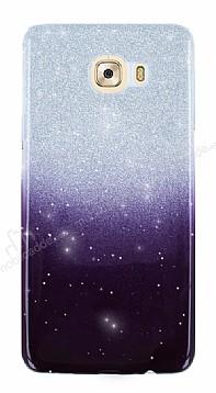 Samsung Galaxy C7 Simli Siyah Silikon Kılıf
