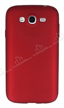 Samsung i9082 Galaxy Grand Duos Mat Kırmızı Silikon Kılıf