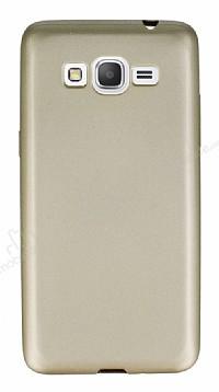 Samsung Galaxy Grand Prime / Prime Plus Mat Gold Silikon Kılıf