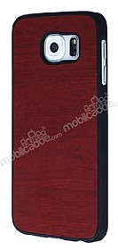 Samsung Galaxy i9800 S6 Ah�ap G�r�n�ml� Bordo Rubber K�l�f