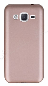 Samsung Galaxy J2 Mat Rose Gold Silikon Kılıf