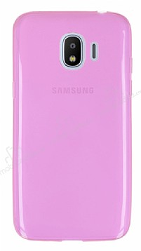 Samsung Grand Prime Pro J250F Ultra İnce Şeffaf Pembe Silikon Kılıf