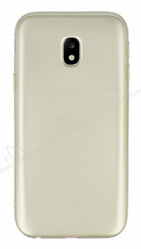 Samsung Galaxy J3 2017 Mat Gold Silikon Kılıf