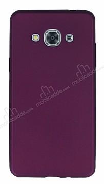 Samsung Galaxy J3 Pro Mat Mürdüm Silikon Kılıf