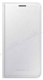 Samsung Galaxy J5 Orjinal Flip Wallet Beyaz Kılıf